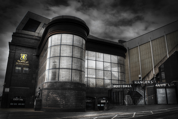 Ibrox stadium glasgow black and white